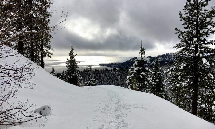 Snowshoeing Vista Lake Tahoe